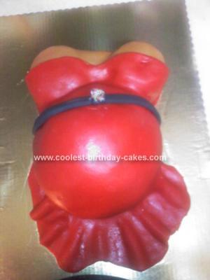 Homemade Hot and Pregnant Mama Cake