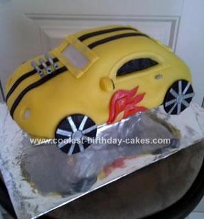 Homemade Hot Wheels Cake