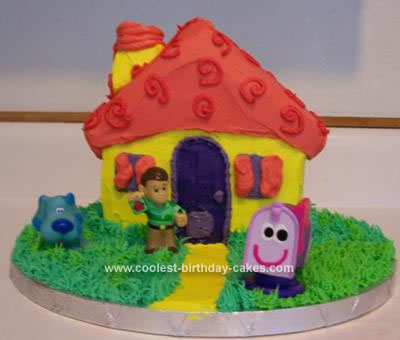 Homemade House Birthday Cake