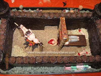 Homemade House of Horrors Cake