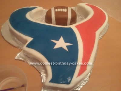 Incredible Coolest Houston Texans Football Cake Design Birthday Cards Printable Giouspongecafe Filternl