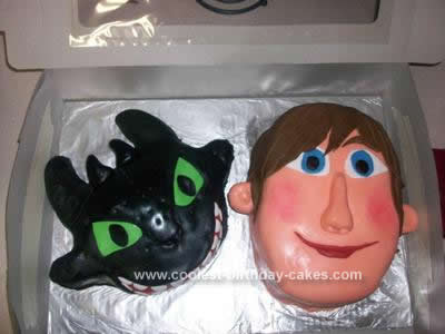 Homemade How To Train Your Dragon Cake