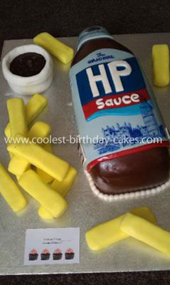 Homemade HP Sauce Birthday Cake