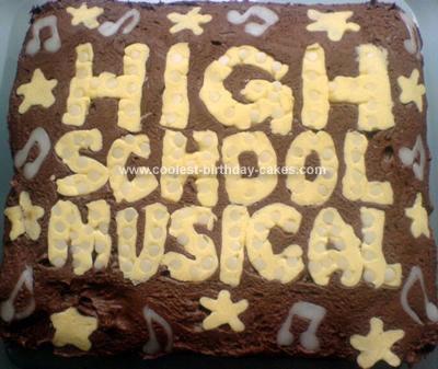 Homemade HSM Birthday Cake