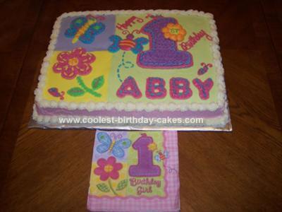 Homemade Hugs and Stitches First Birthday Cake