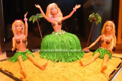 Homemade Hula Birthday Cake