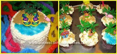 Homemade  Hula Cake Design