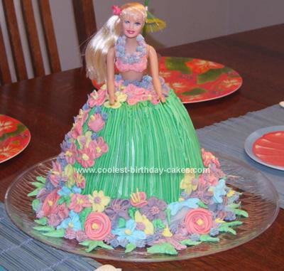Incredible Coolest Hula Girl Birthday Cake Funny Birthday Cards Online Overcheapnameinfo