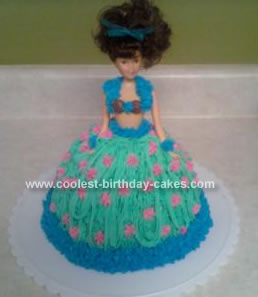 Homemade Hula Girl Cake