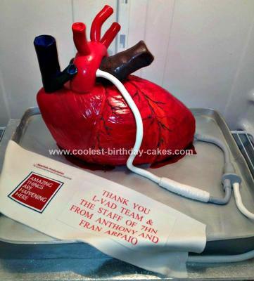 Homemade Human Heart Cake