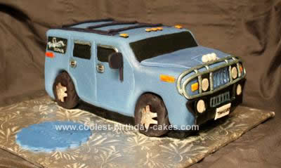 Homemade Hummer Birthday Cake