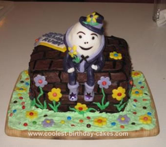 Homemade Humpty Dumpty Birthday Cake