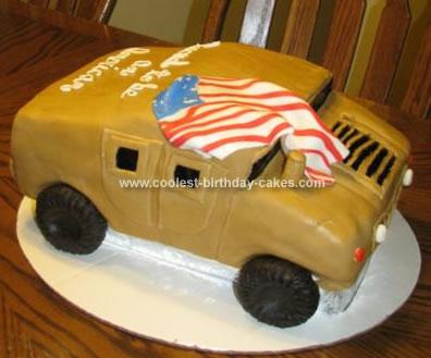 Homemade Humvee Cake