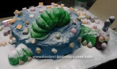 Homemade Hungry Caterpillar Birthday Cake