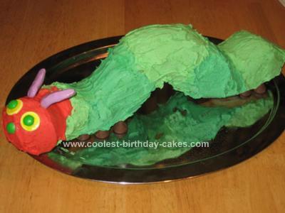 Homemade Hungry Caterpillar Cake