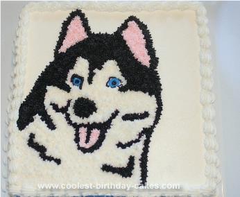 Homemade Husky Dog Cake