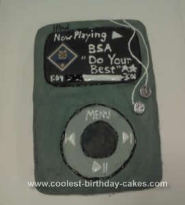 Homemade iPod Boy Scout Cake