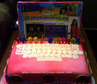 Homemade iCarly Birthday Cake