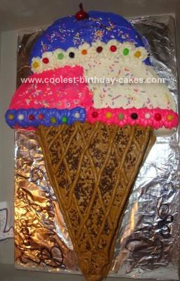 Prime Cool Homemade Ice Cream Cone Cake Funny Birthday Cards Online Sheoxdamsfinfo
