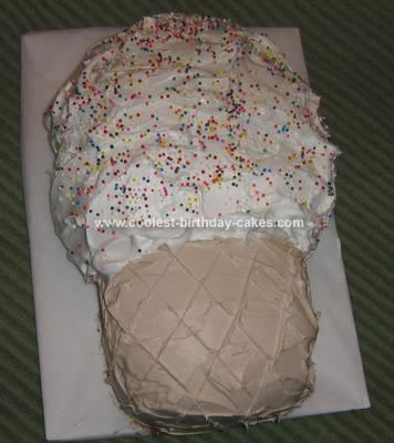 Homemade Ice Cream Cone Cake