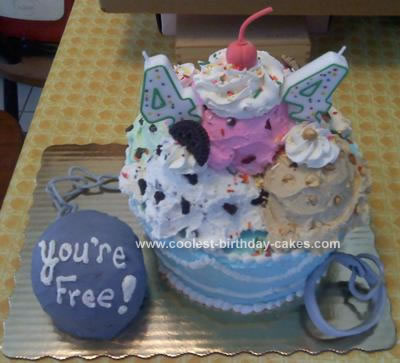 Homemade  Ice Cream Divorce Cake