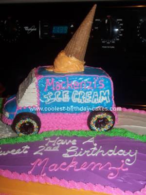 Homemade Ice Cream Truck Cake