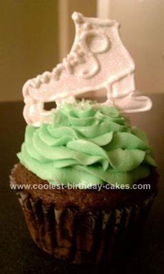 Homemade Ice Skate Cupcake