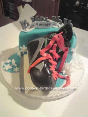 Homemade Ice Skating Birthday Cake Design