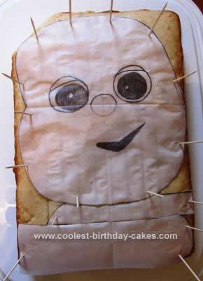 Homemade  Iggle Piggle Birthday Cake