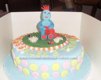Homemade Iggle Piggle In The Night Garden Cake