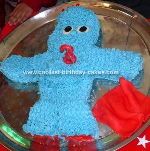 Homemade Igglepiggle Birthday Cake
