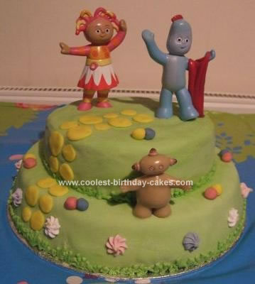 Homemade  In Night Garden Scene Cake