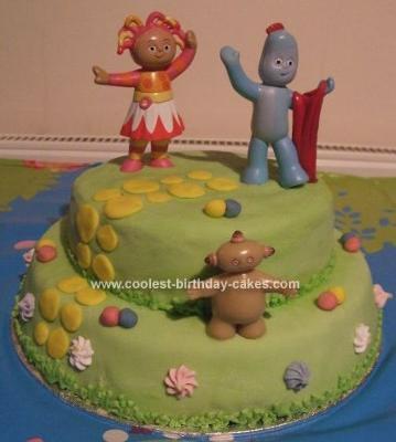 Homemade  In Night Garden Scene Cake