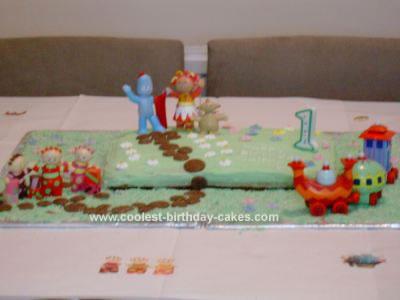 Homemade In the Night Garden 1st Birthday Cake