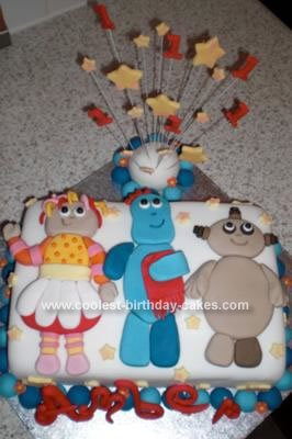 Homemade In the Night Garden Birthday Cake