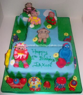 Homemade In The Night Garden Birthday Cake