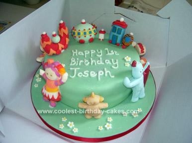 Fabulous Pretty Homemade In The Night Garden Birthday Cake Idea Funny Birthday Cards Online Overcheapnameinfo