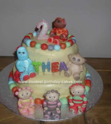 Homemade  In the Night Garden Birthday Cake Idea