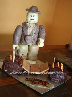 Cool Coolest Indiana Jones Birthday Cake Funny Birthday Cards Online Inifodamsfinfo