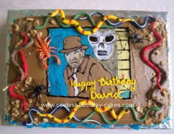 Fine Coolest Indiana Jones Birthday Cake Funny Birthday Cards Online Inifodamsfinfo
