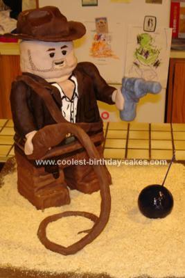 Homemade Indiana Jones Lego Cake