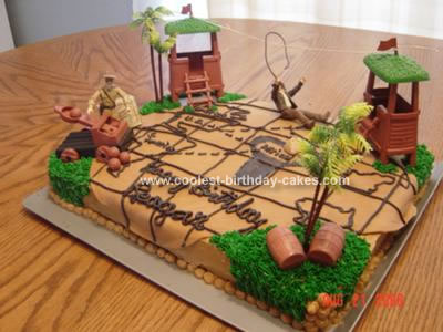 Homemade Indiana Jones Rides Again Cake