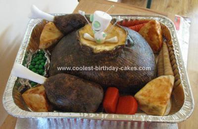 Homemade Invader Zim Cake