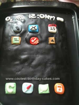 Homemade Iphone Birthday Cake