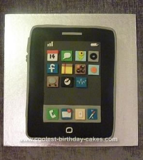 Homemade  iPhone Birthday Cake