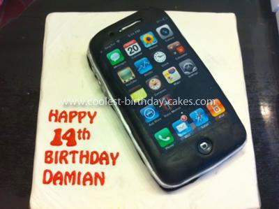 Enjoyable Cool Homemade Iphone Cake Funny Birthday Cards Online Aeocydamsfinfo