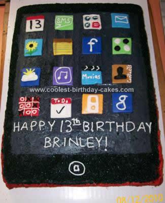 Homemade IPOD Touch Birthday Cake