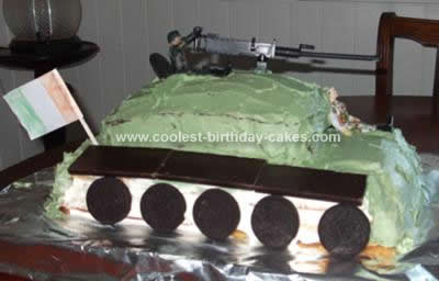 Homemade Irish Army Tank Cake