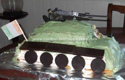 Homemade Irish Army Tank Cake