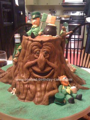 Homemade Irish Leprechaun Cake